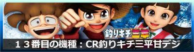 CR釣りキチ三平甘デジ