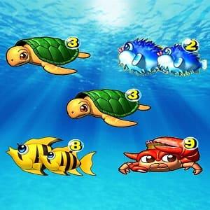 海物語リーチ目、3・3・9の右下ライン