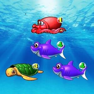 海物語リーチ目1.3.4真ん中裏サメ