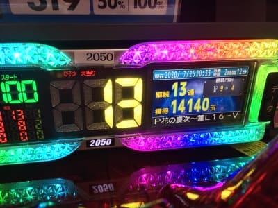 13連チャン14140発