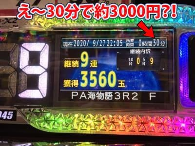 30分で3000円の稼ぎ